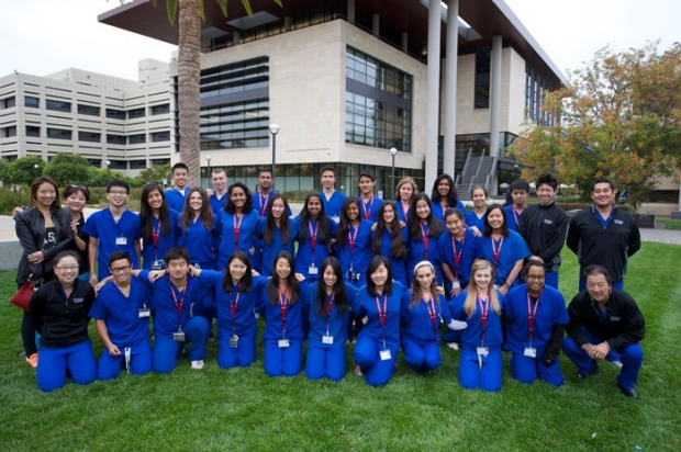 group pic in front of Li Ka Shing Center