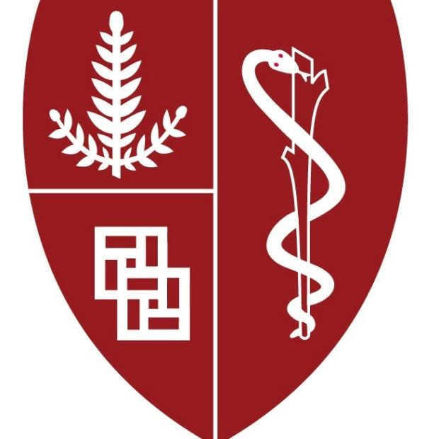 red Stanford School of Medicine shield