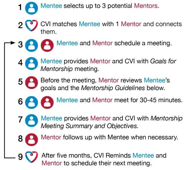graphic of mentee/mentor description