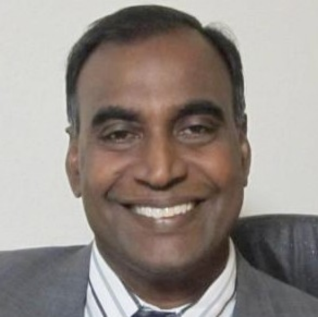smiling head shot of Jayakumar Rajadas, PhD