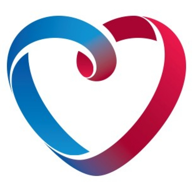 red and blue CVI heart logo