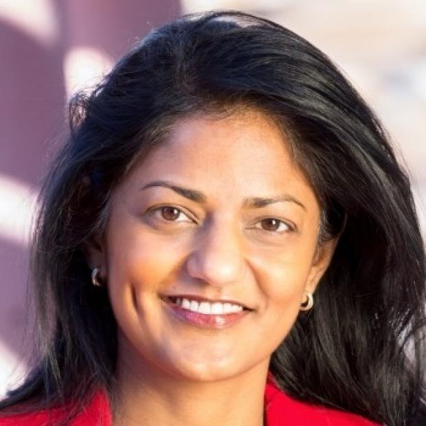 smiling headshot of Dr. Latha Palaniappan