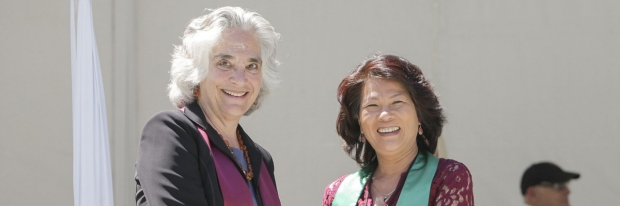Provost Drell and Pauline Luu