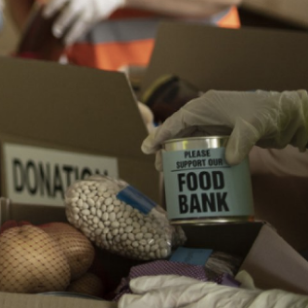 Food Bank Donation image from Stanford Impact Labs FAM website