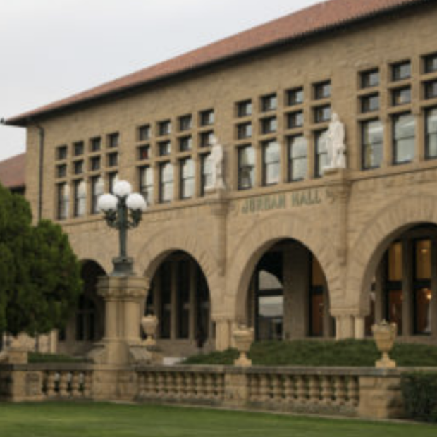 Jordan Hall image from Stanford Daily story