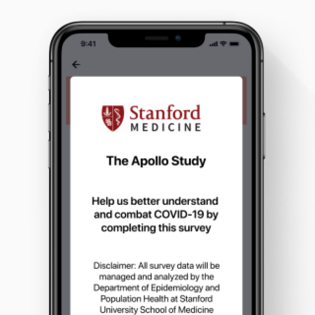 Stanford Apollo App image courtesy of Stanford Medicine News and Gauss