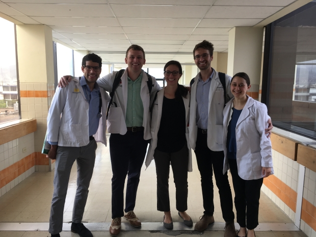 AJ Millet and fellow MDB scholar, Paula Trepman, with colleagues in Riobamba