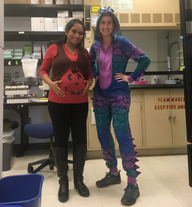O'Brien Lab members on Halloween