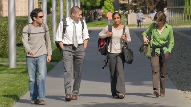 Medical Students walking near the CCSR