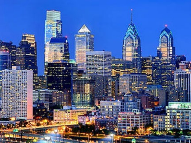Photo of Philadelphia skyline and WMIS logo
