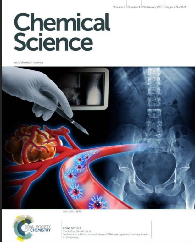 Chemical Science inside cover, vol 9, issue 12 by Zhen Cheng lab