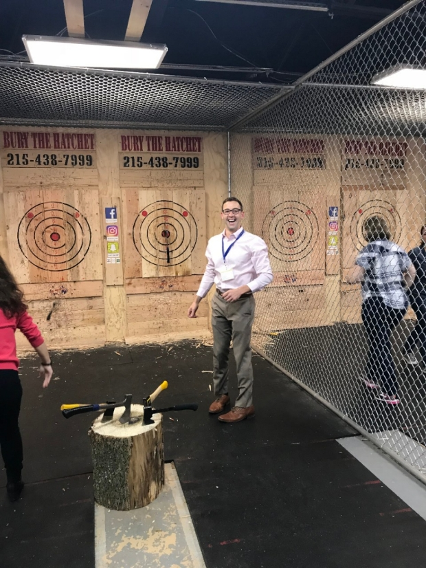 Monje Lab Axe throwing, September 2018