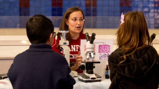 Stanford scientists volunteer at major genomics exhibit now in San Jose