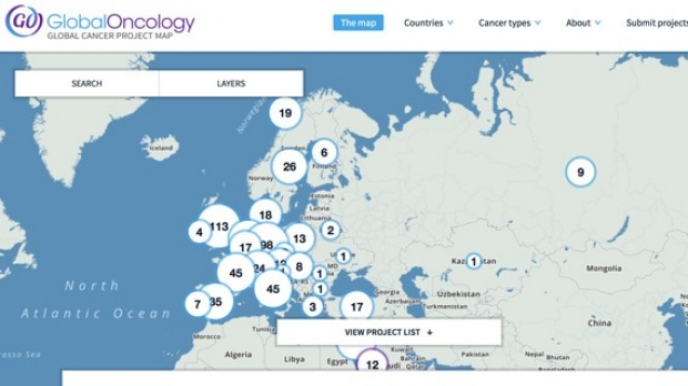 Interactive map aims to improve cancer care in developing nations
