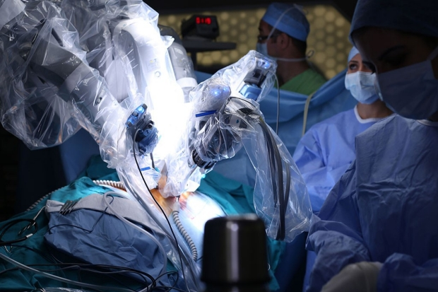 A robot-assisted surgery
