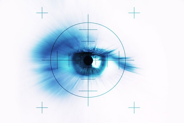 Illustration of an eye with a target on it