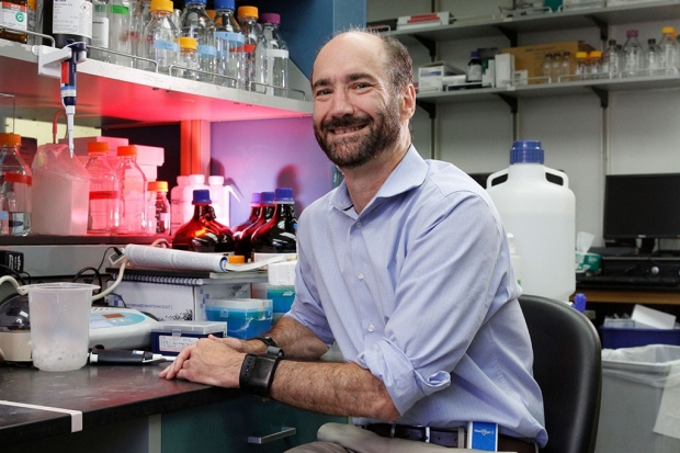 Michael Snyder in his lab