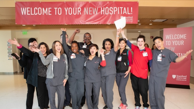 New Stanford Hospital buzzes with life