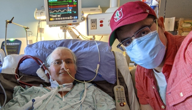 Patient who underwent transplants and his son