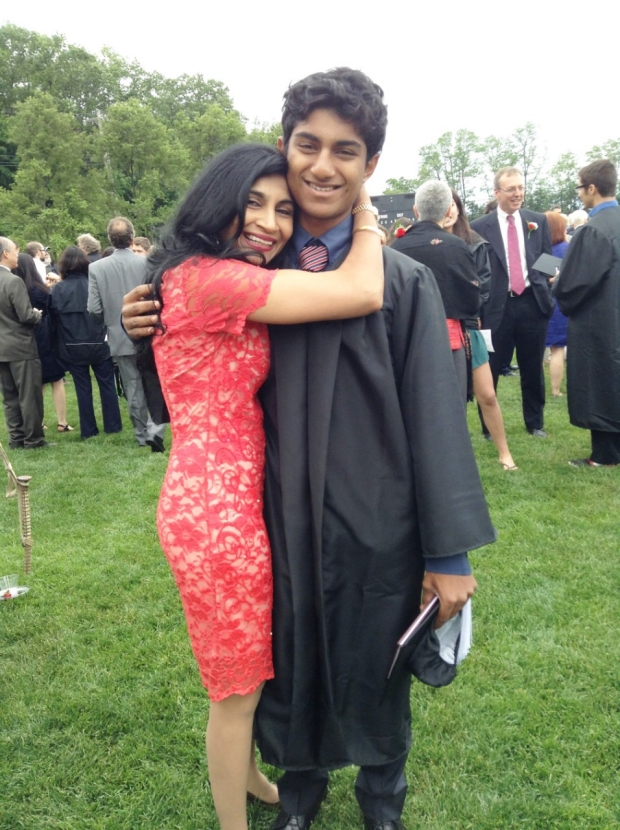 Dr. Gupta and her son, Dilan celebrating at his high school graduation. Photo courtesy of Dr. Lopa Y. Gupta.