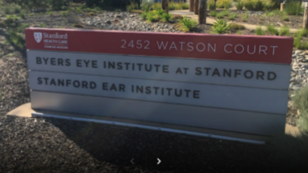 Byers Eye Institute at Stanford front sign