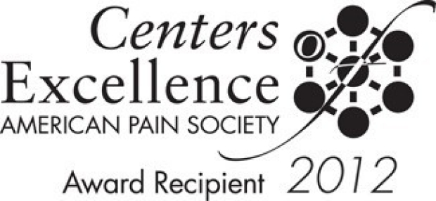 American Pain Society 2012 Centers of Excellence Award