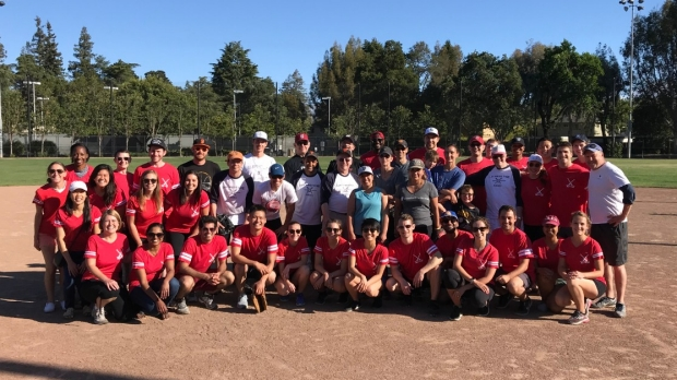 Annual softball game and bowling event