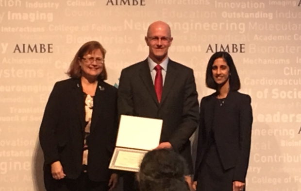 Dr. Hargreaves at the 2019 AIMBE Induction Ceremony