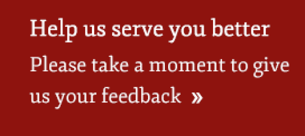 Serve you better feedback link