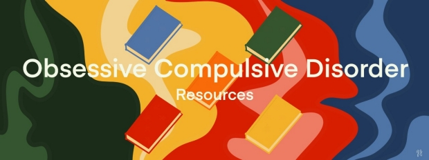 ocd resources: orange floating book in snazzy colorful background