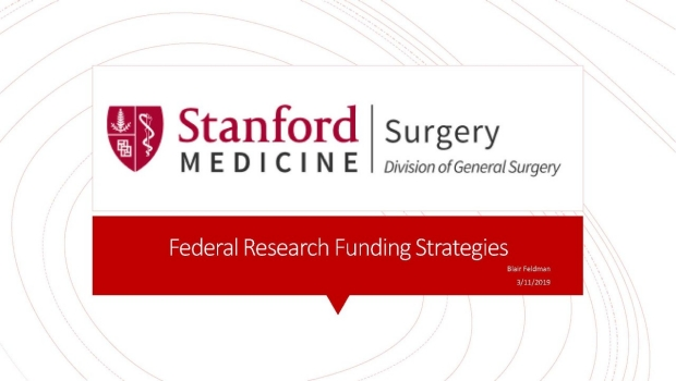 Federal Research Funding Strategies