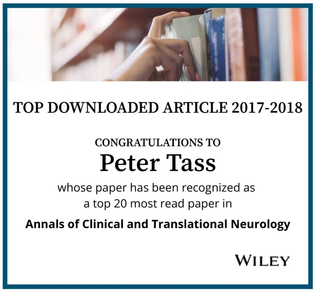 Peter Tass Top Downloaded Article Annals of Clinical and Translational Neurology 2017-2018